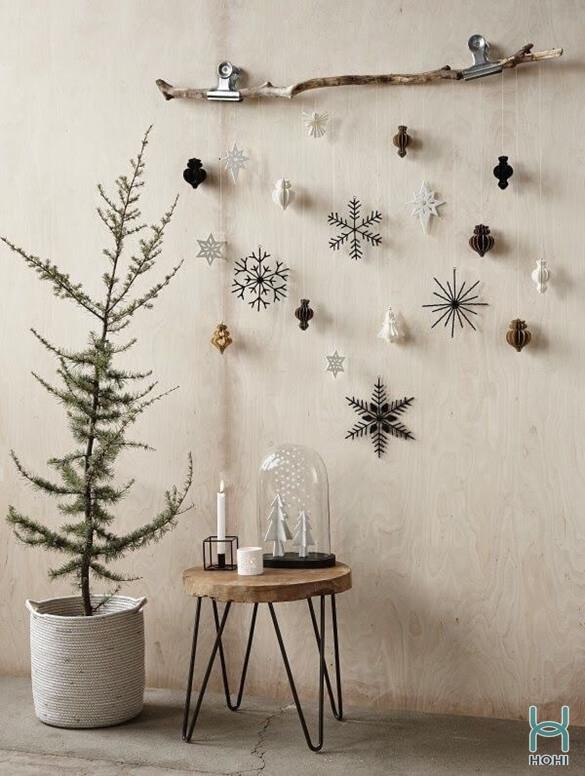 Cành cây khô trang trí Noel độc đáo